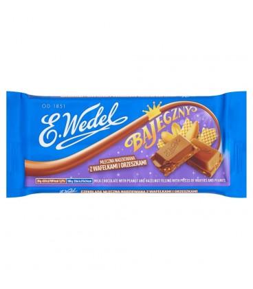 E. Wedel Bajeczny Czekolada mleczna nadziewana z orzeszkami i wafelkami 100 g