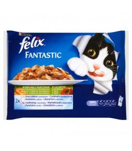 Felix fantastic mięso z warzywami 4x100g