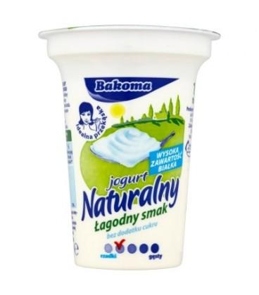 Bakoma Jogurt naturalny łagodny smak bez dodatku cukru 150 g