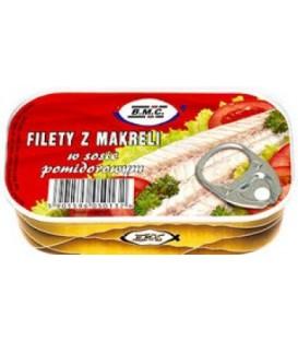 BMC125g filety z makreli w sosie pomidorowym
