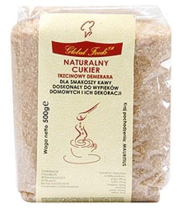 Cukier trzcinowy Demerara zł.wstąż.500g