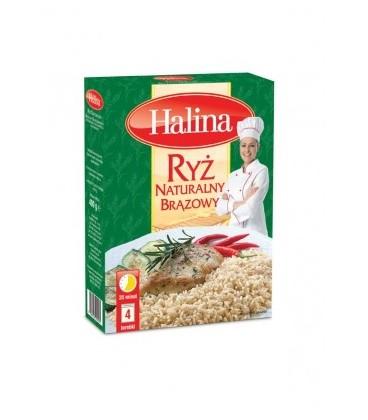 Halina ryż Naturalny Brązowy 4x100g