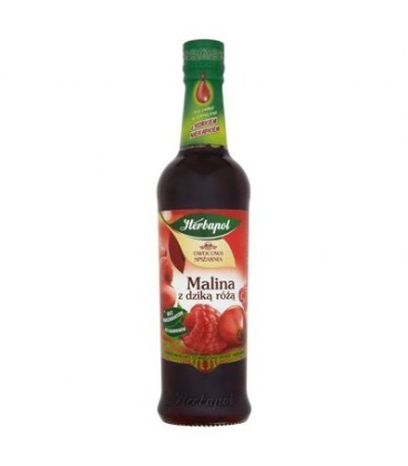 Herbapol Owocowa Spiżarnia Malina z dziką różą Syrop owocowy 420 ml