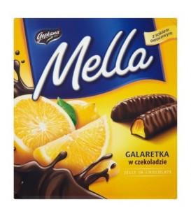 Mella galaretka w czekoladzie o smaku pomarańczowym 190g