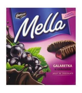 Mella galaretka w czekoladzie o smaku czarnej porzeczki 190g