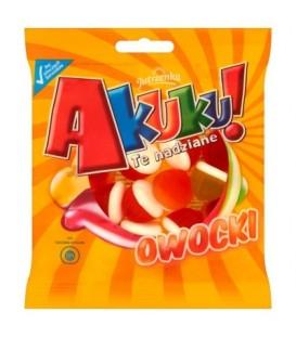 Akuku! Owocki żelki z nadzieniem owocowym 90g