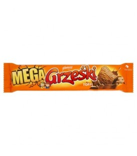 Grześki Mega wafel toffie w czekol.mlecznej 48g