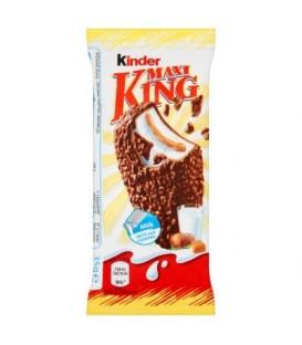 Kinder Maxi King Wafel z mlecznym i karmelowym nadzieniem pokryty czekoladą i orzechami 35 g
