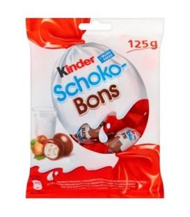 Kinder Schoko-Bons Smakołyk z mlecznym i orzechowym nadzieniem oblany mleczną czekoladą 125 g