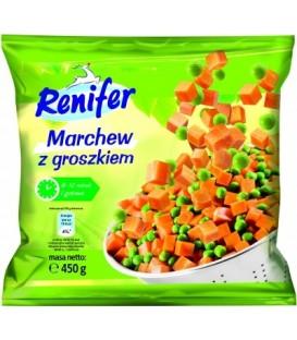 Renifer marchew z groszkiem, mrożonki 450g