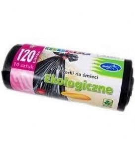 ST Worki na śmieci ekologiczne 120l 10szt. LDPE