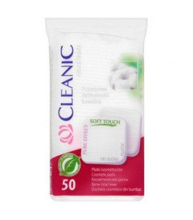 Cleanic Pure Effect Soft Touch Płatki kosmetyczne 50 sztuk