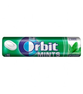 Orbit Spearmint Mints Cukierki bez cukru 28 g (16 cukierków)