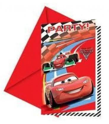 Zaproszenia z kopertą cars