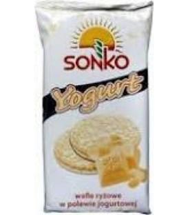 SONKO Wafle ryżowe w polewie jogurtowej 65g