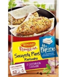 POMYSŁ NA Papirus Soczystą Pierś Kurczaka z czosnkiem i ziołami 25g WINIARY 25 g
