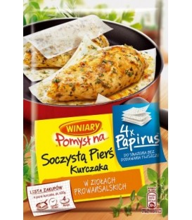 Pomysł na Papirus Soczystą pierś kurczaka w ziołach prowansalskich 23,4 g