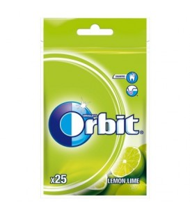Orbit Lemon Lime Guma do żucia bez cukru 35 g (25 drażetek)