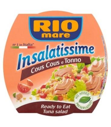Rio Mare Insalatissime Cous Cous e Tonno Gotowe danie z kuskus warzyw i tuńczyka 160 g
