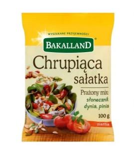 Bakalland Chrupiąca sałatka Prażony mix słonecznik dynia pinia 100 g