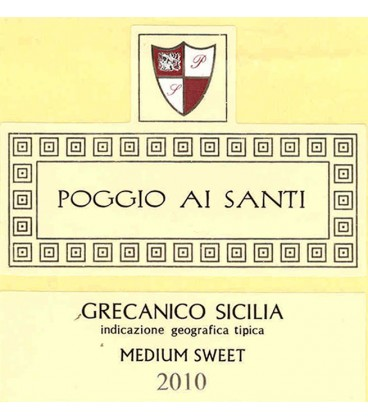 Grecanico Sicilia IGT Medium Sweet, Poggio Al Santi