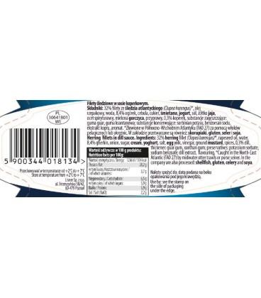 Filety śledziowe w sosie koperkowym LISNER 280 g