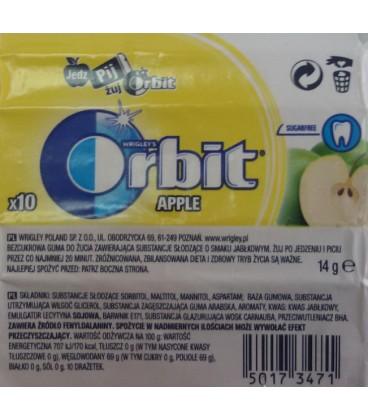 ORBIT APPLE - 10 DRAŻETEK TEST SZT