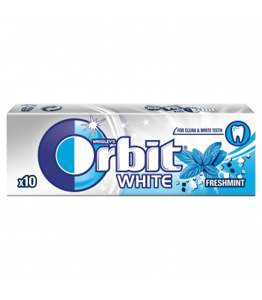 ORBIT WHITE FRESH MINT - 10 DRAŻETEK TEST SZT