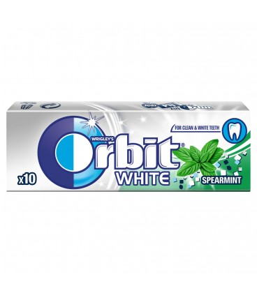 ORBIT WHITE SPEARMINT - 10 DRAŻETEK TEST SZT