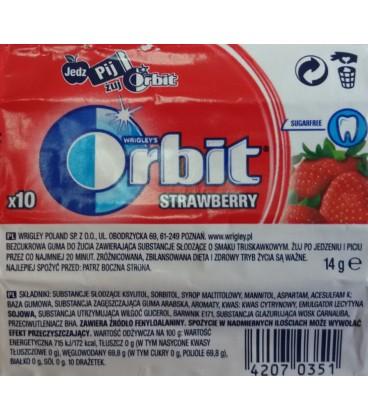 ORBIT STRAWBERRY - 10 DRAŻETEK TEST SZT