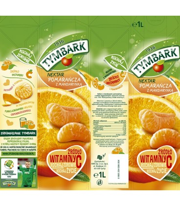 Tymbark Pomarańcza z mandarynką nektar 1 l