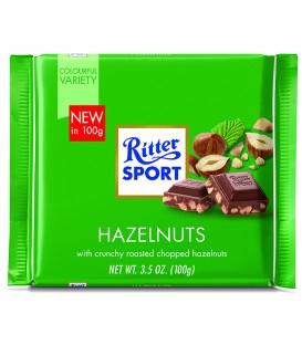 Ritter Sport czekolada mleczna z ciętymi orzechami laskowymi 100g