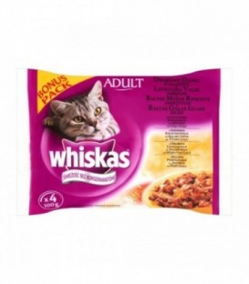 Whiskas drobiowe dania w galaretce 4-100g