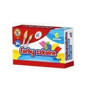 """Farby szkolne """"AS"""" 6 kolorów"""