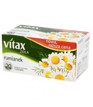 Vitax Zioła Rumianek Herbata ziołowa 30 g (20 torebek)