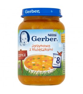 Gerber Zupka Jarzynowa z kluseczkami po 8 miesiącu 190 g