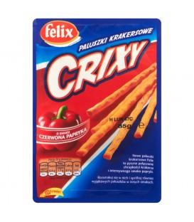 Felix Crixy Paluszki krakersowe o smaku czerwona papryka 85 g