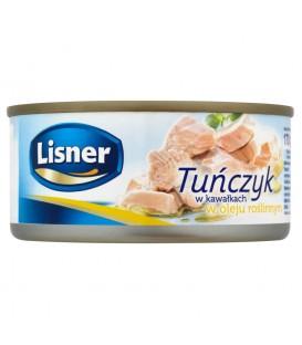 Lisner Tuńczyk w kawałkach w oleju roślinnym 170 g