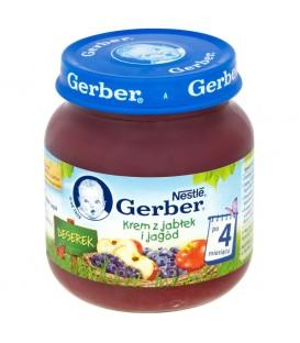Gerber Deserek Krem z jabłek i jagód po 4 miesiącu 125 g
