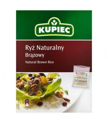 Kupiec Ryż naturalny brązowy 400 g (4 torebki)