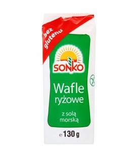 SONKO Wafle ryżowe z solą morską 130g
