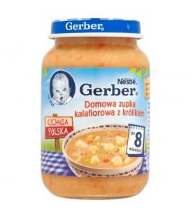 Gerber Kuchnia Polska Domowa zupka kalafiorowa z królikiem po 8 miesiącu 190 g