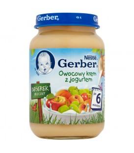 Gerber Deserek Mleczny Owocowy krem z jogurtem po 6 miesiącu 190 g