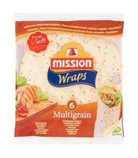 Mission Wraps Tortilla z mąki pszennej z siemieniem lnianym 370 g (6 sztuk)
