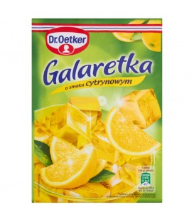 Dr. Oetker Galaretka o smaku cytrynowym 77 g