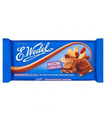 E. Wedel Czekolada mleczna z bakaliami 100 g