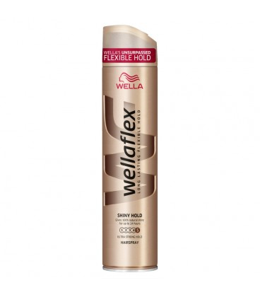 Wella Wellaflex Shiny Ultra Strong Hold Lakier do włosów 250 ml