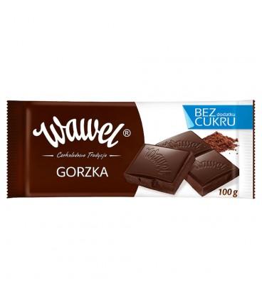 Wawel Gorzka bez dodatku cukru Czekolada 100 g