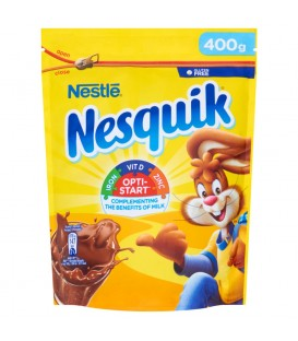 Nesquik Opti-Start Rozpuszczalny napój kakaowy z dodatkiem witamin i składników mineralnych 400 g