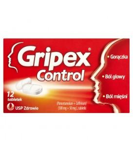 Gripex Control 500 mg + 50 mg Tabletki 12 tabletek